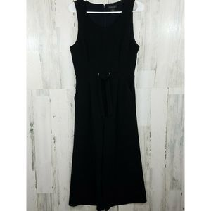 Rachel Zoe Sleeveless Cropped Jumpsuit Black Sz 8